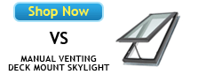 Velux VS No Leak Deck Mounted Skylights Available at Best Skylights.com