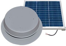 50 Watt Solar Attic Fan by Natural Light
